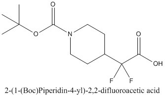 CAS 1258638-62-8 2-(1-(Boc)Piperidin-4-yl)-2,2-difluoroacetic acid