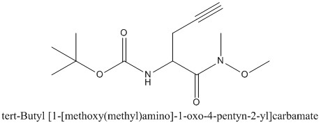 CAS 1172623-95-8 tert-Butyl [1-[methoxy(methyl)amino]-1-oxo-4-pentyn-2-yl]carbamate