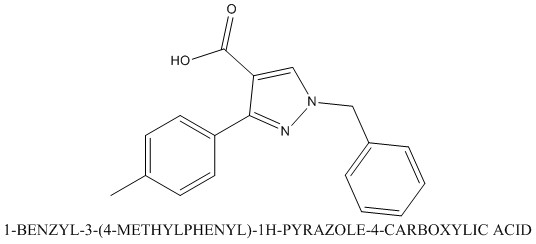 CAS 956453-12-6 1-BENZYL-3-(4-METHYLPHENYL)-1H-PYRAZOLE-4-CARBOXYLIC ACID