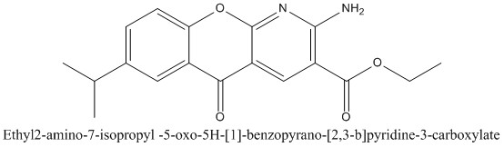 CAS 68301-99-5 Ethyl2-amino-7-isopropyl -5-oxo-5H-[1]-benzopyrano-[2,3-b]pyridine-3-carboxylate