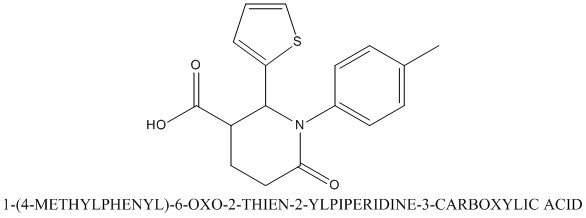 CAS 855715-10-5 1-(4-METHYLPHENYL)-6-OXO-2-THIEN-2-YLPIPERIDINE-3-CARBOXYLIC ACID