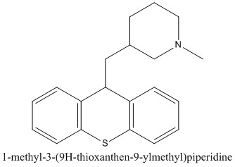 CAS 7081-40-5 1-methyl-3-(9H-thioxanthen-9-ylmethyl)piperidine