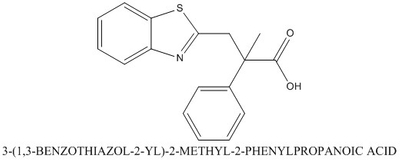 CAS 863669-01-6 3-(1,3-BENZOTHIAZOL-2-YL)-2-METHYL-2-PHENYLPROPANOIC ACID