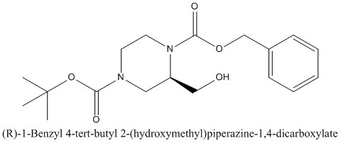 CAS 1217813-68-7 (R)-1-Benzyl 4-tert-butyl 2-(hydroxymethyl)piperazine-1,4-dicarboxylate