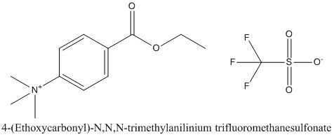 CAS 124915-06-6 4-(Ethoxycarbonyl)-N,N,N-trimethylanilinium trifluoromethanesulfonate